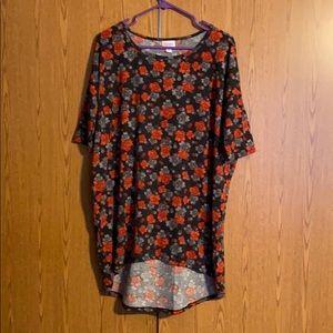 Lularoe Irma shirt medium black gray and red